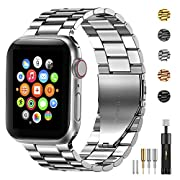 Amazon #DealOfTheDay: Fitlink Stainless Steel Metal Band for Apple Watch 38/40/42/44mm Strap Replacement Link Bracelet Band Compatible with Apple Watch Series 6 Apple Watch Series 5 Apple Watch Series 1/2/3/4