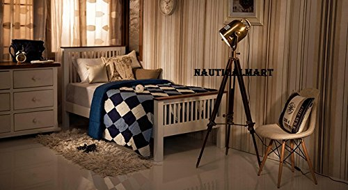 Vintage Tripod Search Light Floor Lamp Home Decor