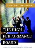 The High-Performance Board: Principles ofNonprofit Organization Governance