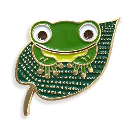 Enamel Charm Frog - Night Owl Paper Goods Frog Enamel Pin, Gold