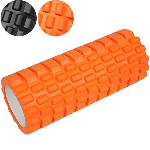 Jago - Rouleau de Massage 33 x 14 cm Automassage Sport Fitness Musculation Pilates Yoga (Couleur/Fermeté au Choix)