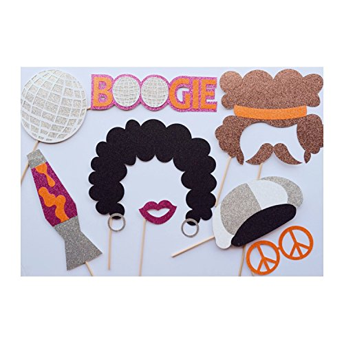 1970's Photo Booth Props; Afros Photobooth Props; 70s Party Photo Props; Hippie Birthday Party Decor ; Boogie Nights ; Disco Fever (70s Party Decor)
