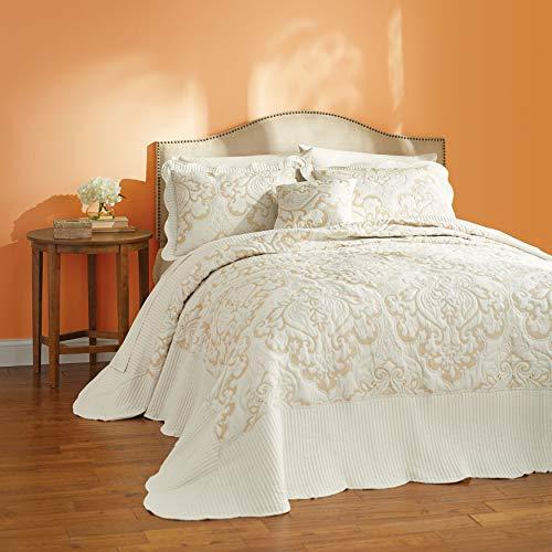 BrylaneHome Amelia Bedspread - Queen, Ivory