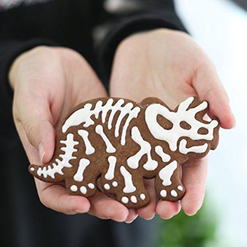 BESTONZON 6 unids pastel de galleta molde lindo dinosaurio molde de la torta de plástico fondant cake sugar craft decoración de la cocina cortador de ...