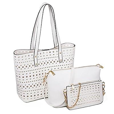 YNIQUE Women Summer Handbags Shoulder Bag Top Handle Purse Designer Tote Bag 3 Bags Set