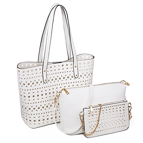 YNIQUE-Womens-Handbags-Shoulder-Bag-Top-Handle-Purse-Designer-Tote-Bag-3-Bags-Set-With-Cute-Plush-Bunny