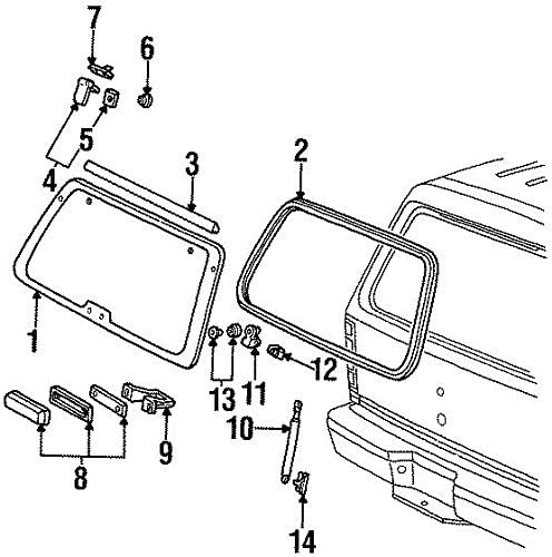 Genuine Ford F1TZ-7842104-A Gas Lift Assembly