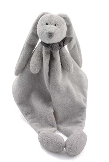 Dimpel NEELA Doudou, Cuddly Stuffed Bunny Security Blanket, in Grey