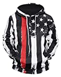 JW 3d Fashion Hoodies Black USA Flag Sweatshirts 2018 Autumn Casual Long Sleeve Hoody Hip Hop Pocket Streetwear Hooded Pullovers