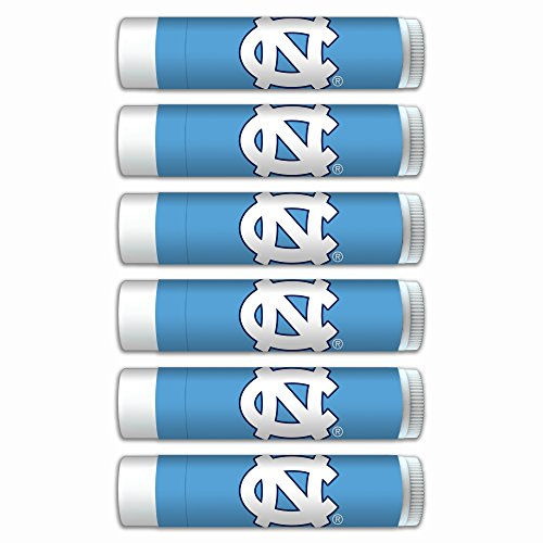 $2.00 OFF North Carolina Tar Heels Smooth Mint Lip Balm 6-PACK with SPF 15, Beeswax, Coconut Oil, Aloe Vera. NCAA Gifts for Men and Women on Mother's Day, Father's Day, Stocking Stuffers.