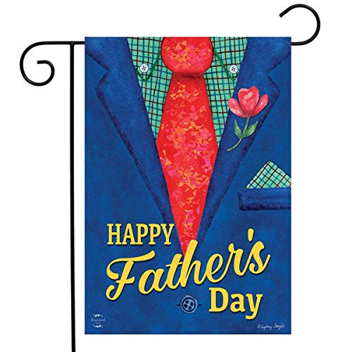 Fathers Day Flag - Briarwood Lane Father's Day Suit Garden Flag Holiday Dads Tie 12.5