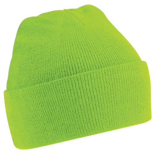 Beechfield Soft Feel Knitted Winter Hat (One Size) (Lime Green)