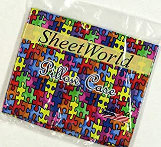 product image for SHEETWORLD.COM Primary Puzzle Cotton Baby Pillow Case