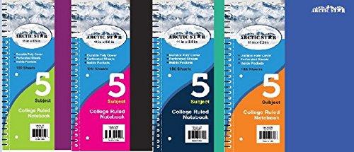 YDB 5 Subject Assort Colors Premium Notebook44; Case of 24