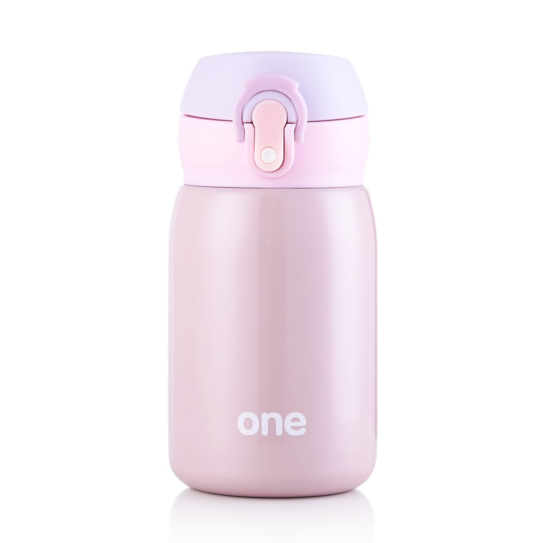 Kid&Girls 260ml/9oz Mini Insulated Water Bottle Drink Thermos Cute Stainless Steel Vacuum Flask,Leak-proof Travel Mug Coffee Tumbler,QJR574 (Purple)