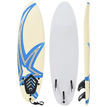 Festnight Surfboard Soft Beginner Surfing Board Blue and Red 170 cm