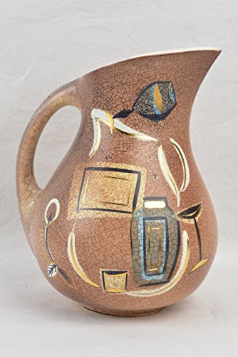 Sascha Brastoff 1957 Brown Ice Pitcher Holiday Greetings Brown & Forman