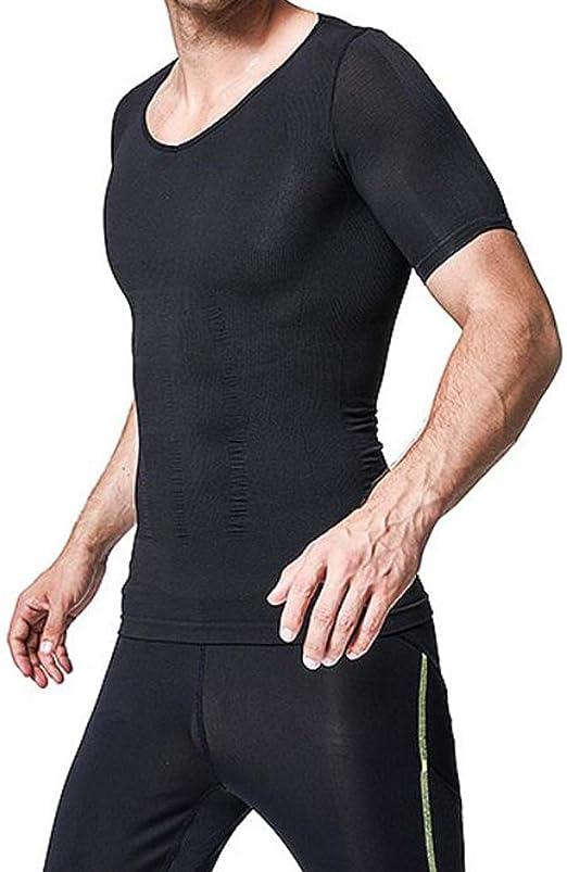 Q&M Hombres Sudor Chaleco Neopreno Adelgazante Camisa Hid Abdominal Pérdida de Peso Traje de Sauna,L: Amazon.es: Hogar