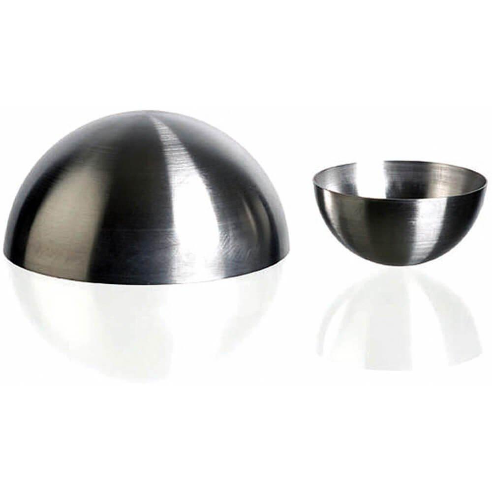 Matfer Bourgeat Stainless Steel Half Ball/Round Baking Molds, 2.37'', 6PK 340401