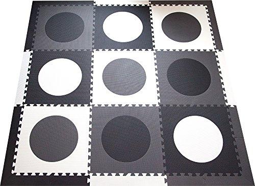 SoftTiles Children's Foam Playmat- Minimalist Geometric Circ