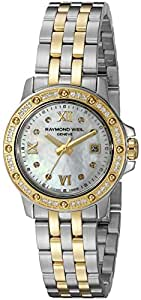 Raymond Weil Women's 5399-SPS-00995 Tango Stainless Steel Two-Tone Dress Watch with Diamonds