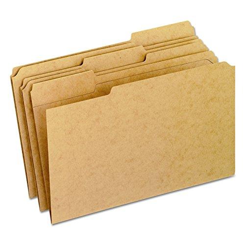 Pendaflex RK15313 Two-Ply Dark Kraft File Folders, 1/3 Cut Top Tab, Legal, Brown (Box of - Ply 1/3 Cut Folders File