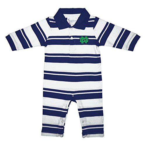Notre Dame Fighting Irish NCAA College Infant Baby Rugby Striped Leg Romper (12 Months) ()