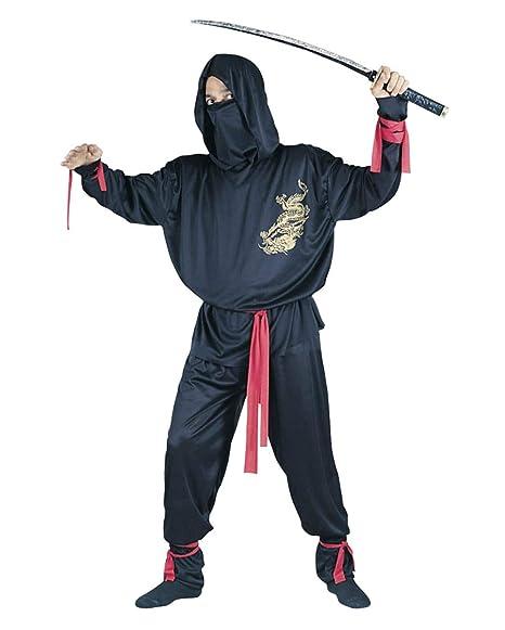 Disfraz Ninja Negro: Amazon.es: Juguetes y juegos