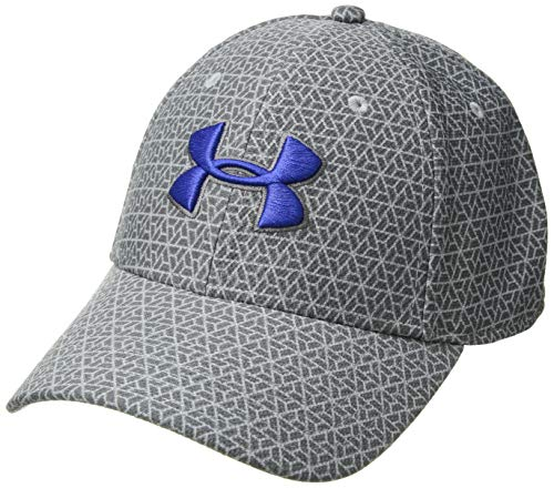 - Under Armour Men's Printed Blitzing 3.0 Stretch Fit Cap, Steel (036)/Royal, Large/X-Large