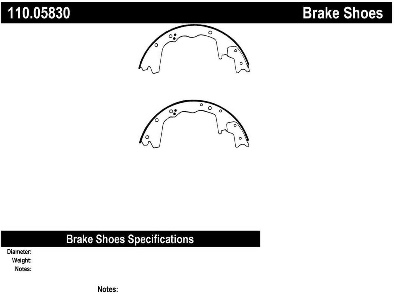 Centric 110.05830 Brake Shoe