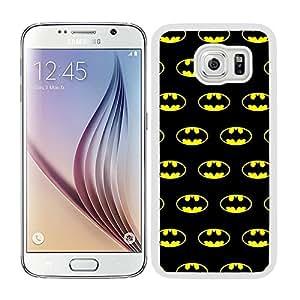 Funda carcasa para Samsung Galaxy S6 estampado Batman superhéroe borde blanco