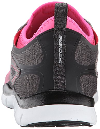 Skechers Sport Fabulosity Fashion Sneaker Black Hot Pink