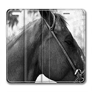 Horse's Head Design Leather Case for Iphone 6 Plus Gray