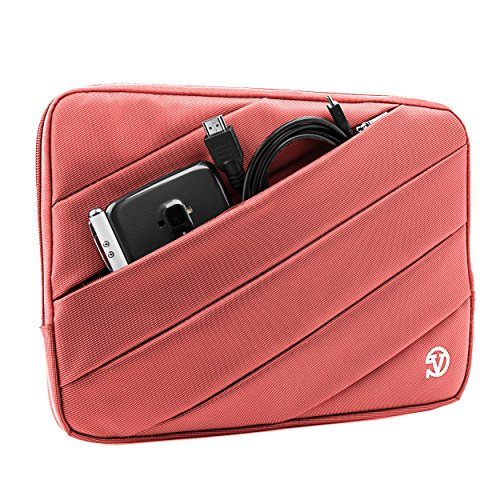 Nylon Lightweight Carrying Quilted Sleeve Pink Travel Case for Apple iPad Pro, Mini 4, Air 2, 7.9