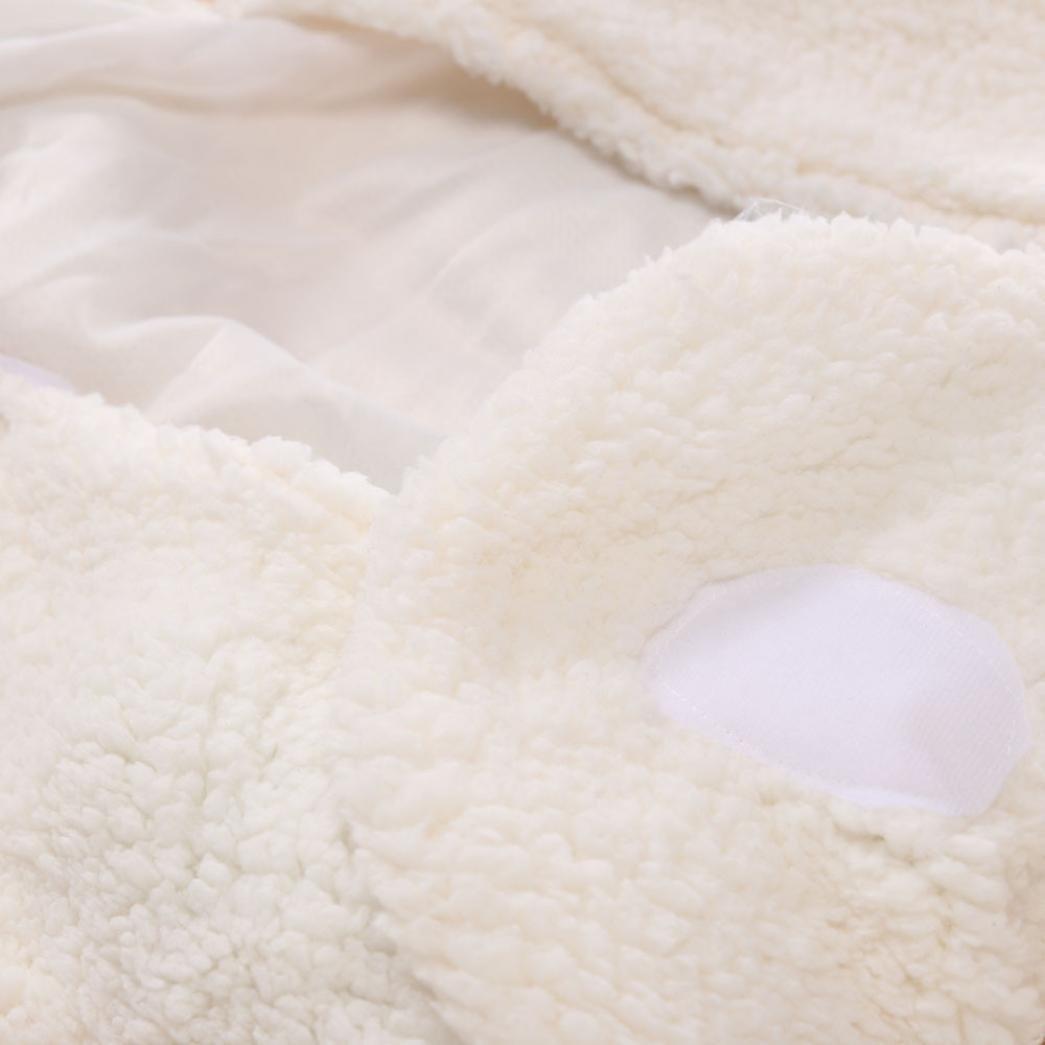 Newborn Infant Baby Faux Cashmere Receiving Blankets Wrap Sleeping Bag Transer Swaddle Blanket