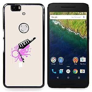 GIFT CHOICE / Teléfono Estuche protector Duro Cáscara Funda Cubierta Caso / Hard Case for Huawei Google Nexus 6P // Pink Abstract //