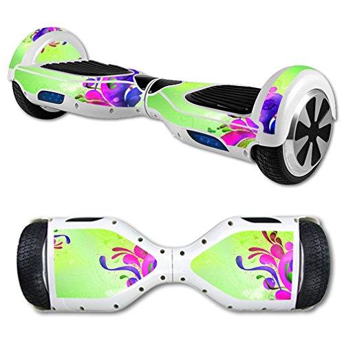 MightySkins Skin Compatible with Hover Board Self Balancing Scooter Mini 2 Wheel x1 Razor wrap Cover Sticker Pastel Flourish