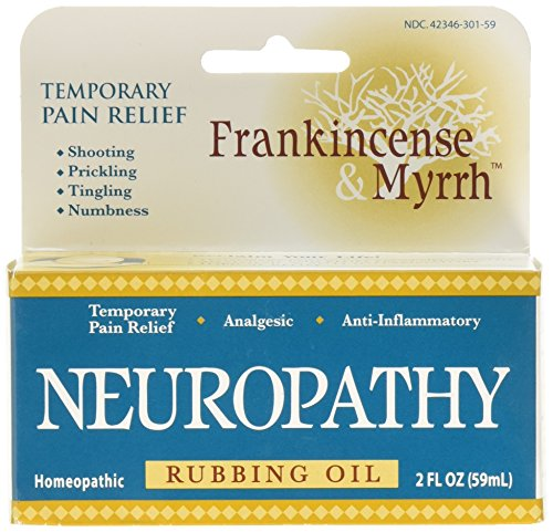 Frankincense & Myrrh Neuropathy Rubbing Oil with Essential Oils for Pain Relief, 2 Fluid Ounces - 1 Pack -
