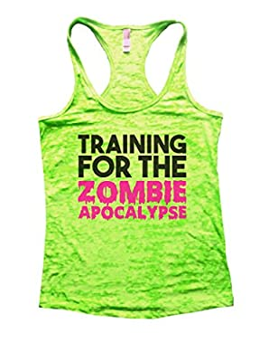 Training For the Zombie Apocalypse Funny Work Out Tank Top Racerback Running Shirt