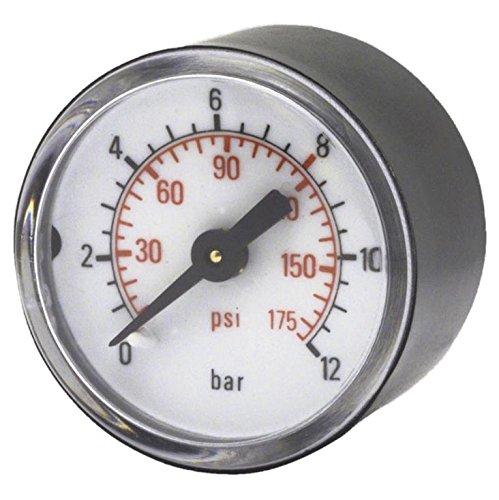 Druckmanometer 0-16 bar Ø 50 mm, Ø 1/4 Außengewinde hinten, 1 Stk. Packung - SB ELMAG