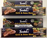 Set of 4 Yoshi Grill Bake Nonstick BBQ Mats Easy Grilling Baking As Seen on Tv
