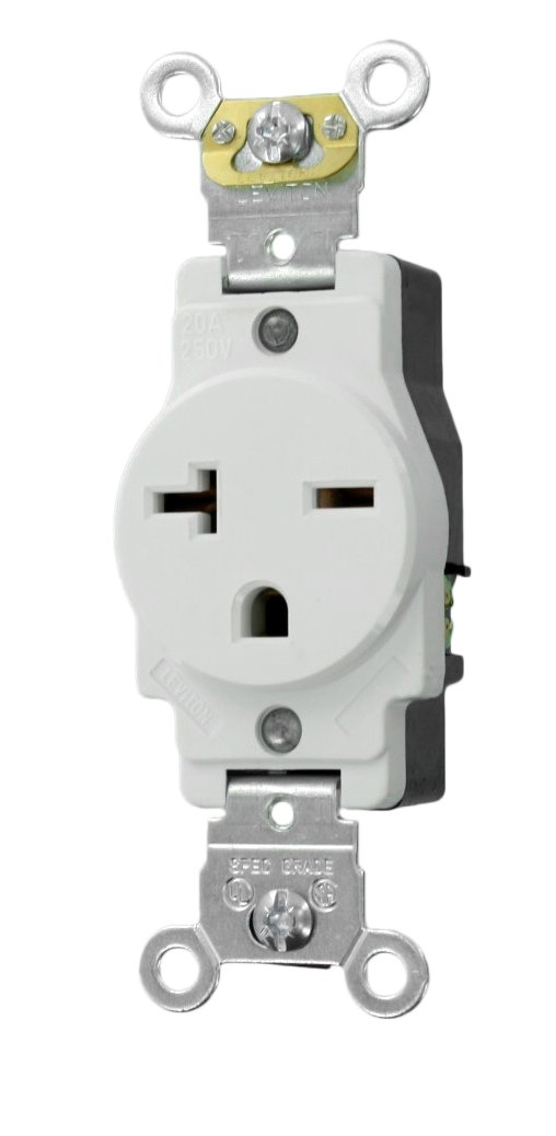 51dF2Y6dNRL._SL1038_ leviton 5461 w 20 amp 250 volt nema 6 20r, 2p, 3w, narrow body 120 volt outlet wiring at mifinder.co