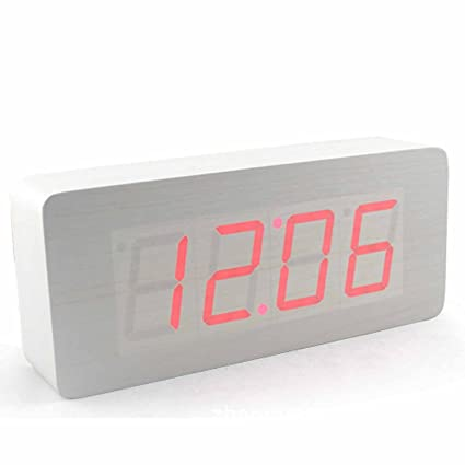 Gosear Digital Reloj Despertador de Control de Voz con Visualización de Tiempo Temperatura Fecha - Cubo