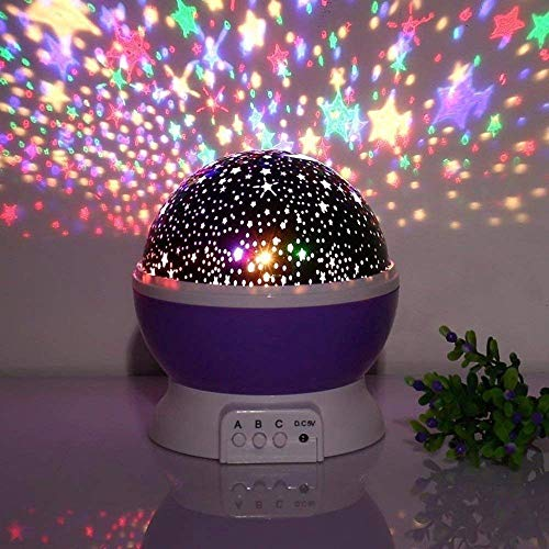 LUXINA LED Night Lamp, Star Moon Night Light, Projection Lamp, Night Lamp for Kids Bedroom, Sky Star Moon Light Color…