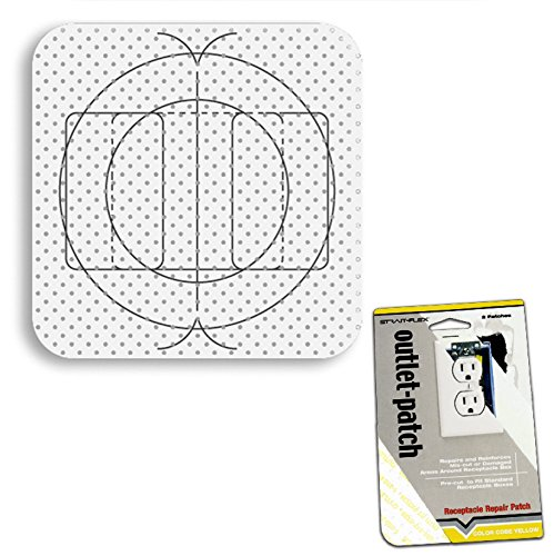 (Drywall Patch Combo Pack - Electrical Outlet Patches (20), Switch Box / Can Light Patches (10))