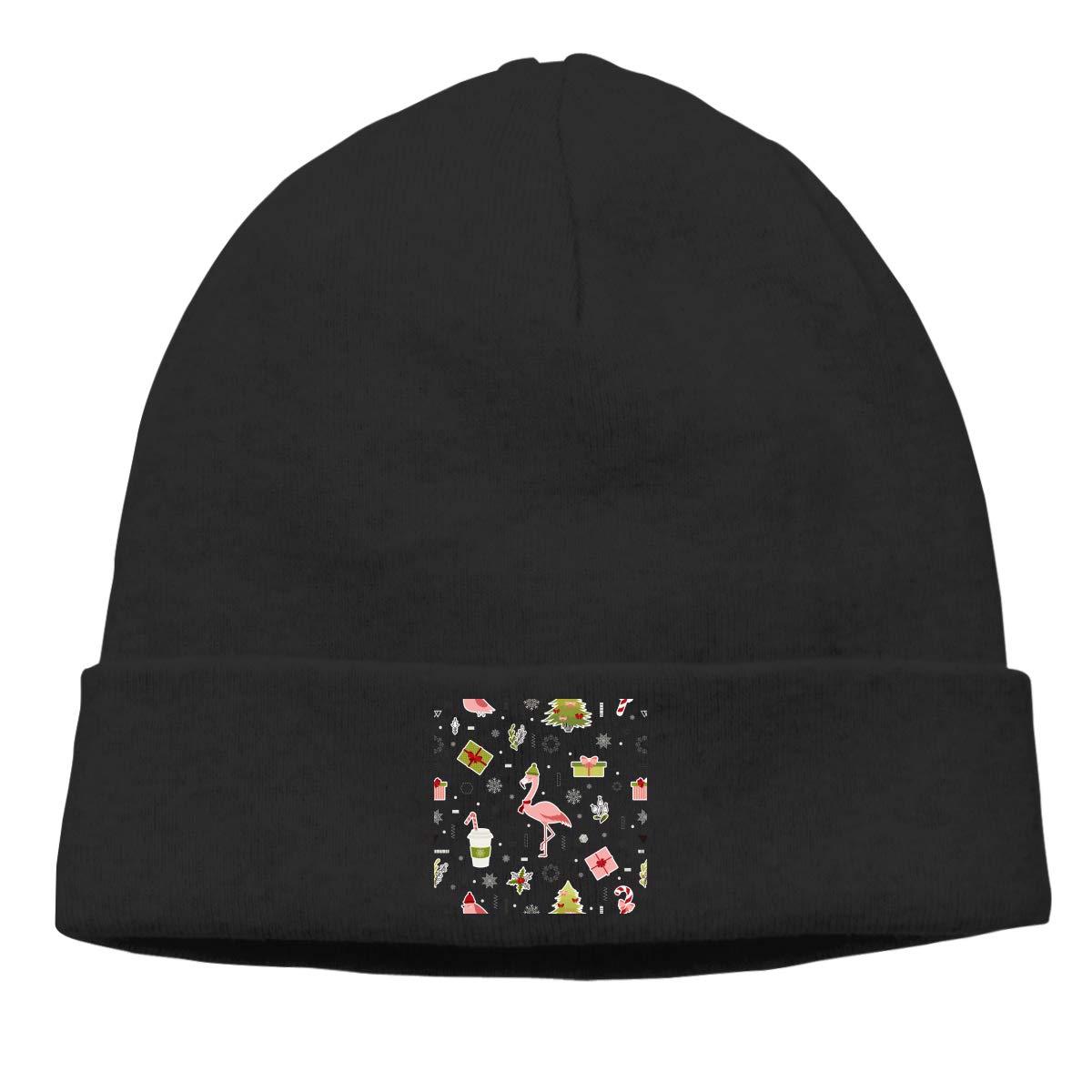 Cute Flamingo Christmas Hot Pink Cap Mens/&Womens Oversized Baggy Beanie Hats Slouchy Beanie Hat