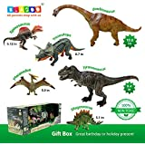 BLAGOO Dinosaur Toys with Moving Parts 6 Figures up to 10.6 inches Super Big Set #2 including Free Augmented Reality 4D Cards
