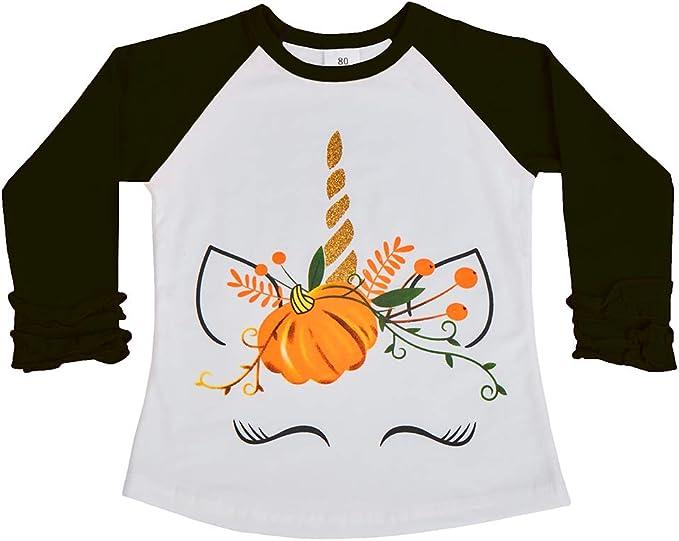 Amazon.com: Unicorn - Camisa de calabaza con volantes para ...
