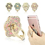 New Phone Ring Holder (4 Packs), FOMTOR Universal Phone Finger Ring Stand Holder, 360 Rotation 3D Aluminium Ring Grip for iPhone 5 6 6S 6Plus iPhone 7 7Plus,Galaxy and Almost All Phones