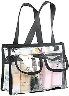TrifyCore borsa Trasparente EVA, adatta per le docce da viaggio E borsa di archiviazione di Sacchetti di archiviazione Trasparente, impermeabile Nero